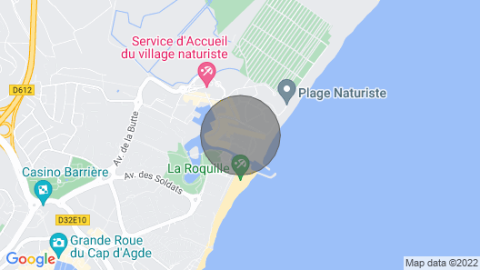 Apartment nudist village cape d'Agde, small sea view  Map
