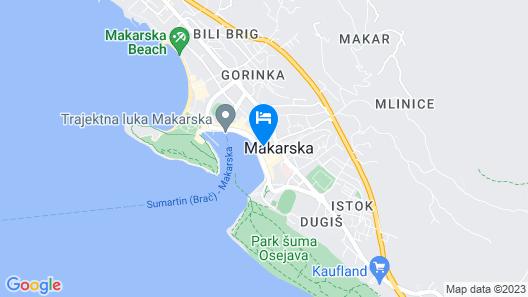 Dalmatinsko Apartments Map