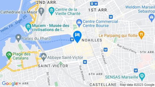 Hôtel Du Sud Vieux Port Map