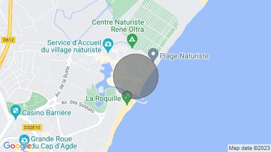 Cap D'agde Naturist Village Apartment Rental, Partial sea View Map