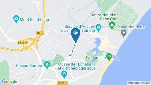 Azureva Cap d'Agde Map