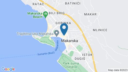 Villa Riva Makarska Map