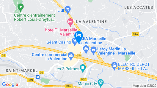 Premiere Classe Marseille Est - La Valentine Map