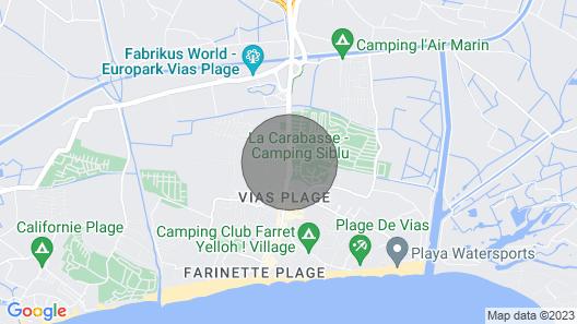 mobilhome great comfort in vias beach seaside 6/8 people large terrace Map