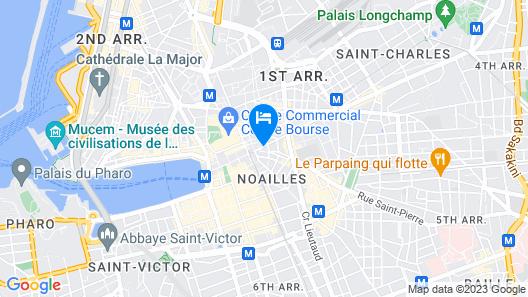 Hôtel Mercure Marseille Canebière Vieux-Port Map