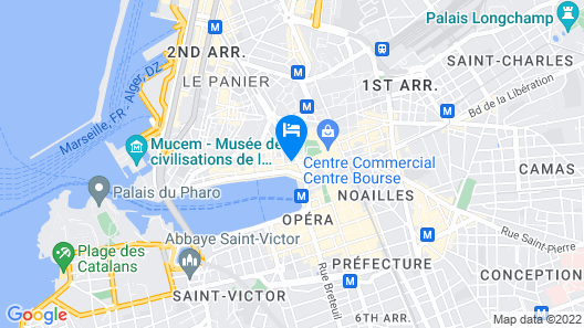 Residhotel Vieux Port Map