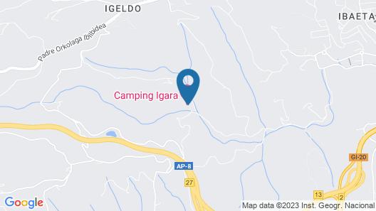 Camping Igara de San Sebastián Map