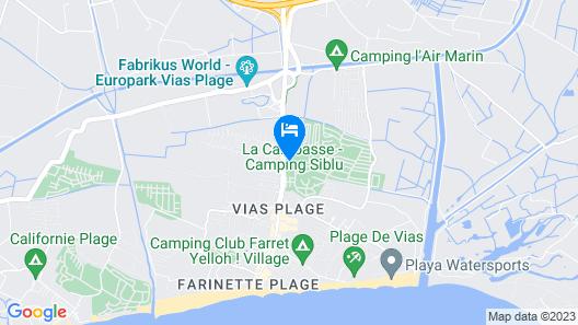 Camping Officiel Siblu La Carabasse Map