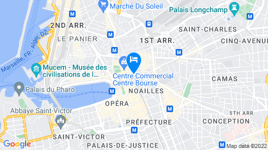 Best Western Marseille Bourse Vieux Port by Happyculture Map
