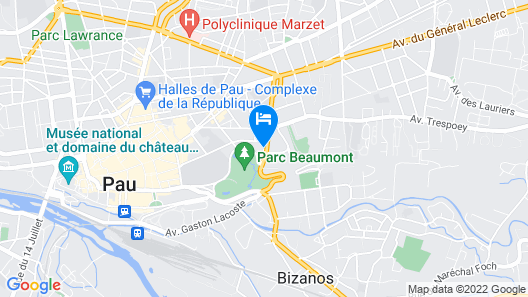 Hotel Parc Beaumont Pau MGallery by Sofitel Map