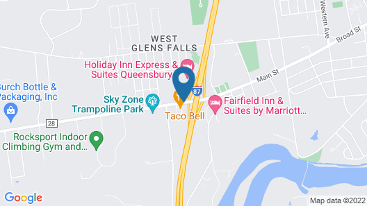Super 8 by Wyndham Queensbury Glen Falls, Lake George Area Map