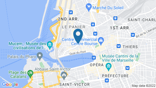 InterContinental Marseille - Hotel Dieu Map