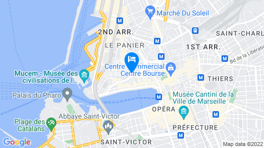 InterContinental Marseille - Hotel Dieu Map