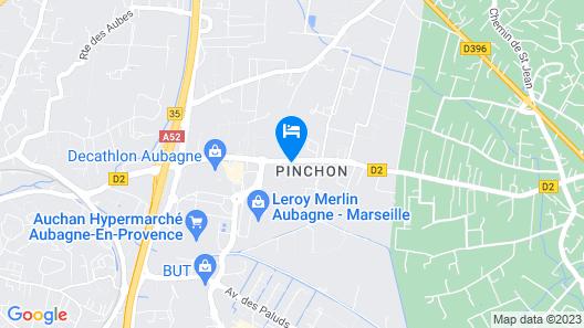 CAMPANILE MARSEILLE EST - Aubagne Map