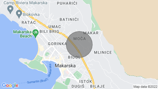 Apartment Stanko Apartment in Makarska, Private Pool Map