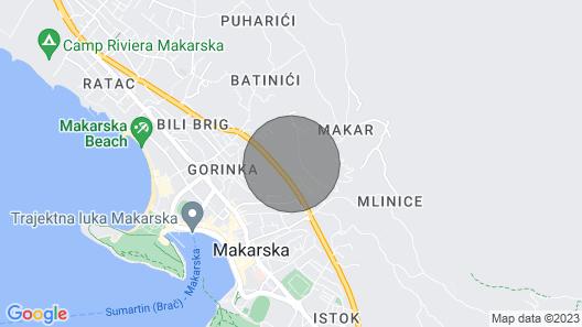 6 Bedroom Accommodation in Makarska Map