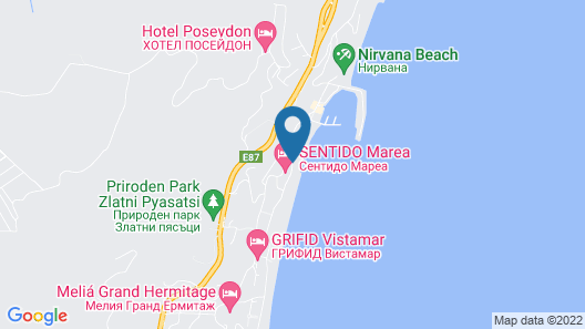 Grifid Encanto Beach Hotel - Wellness & SPA Map