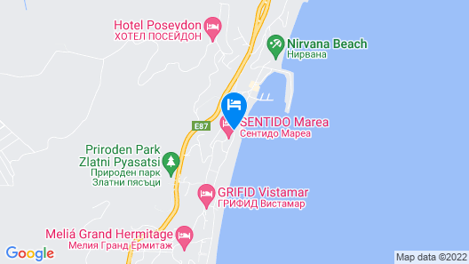 Grifid Encanto Beach Hotel - Wellness & SPA Map