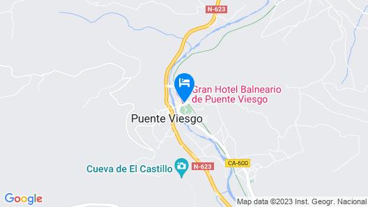 Gran Hotel Balneario De Puente Viesgo Map