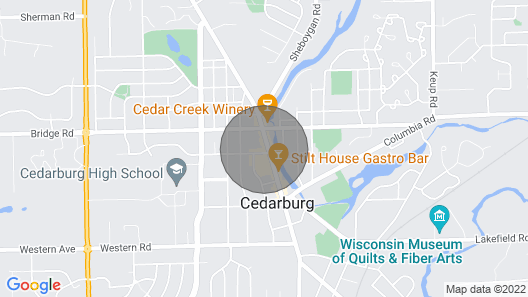 Well Deserved Getaway in the Heart of Cedarburg W/no Hidden Cleaning fee Map