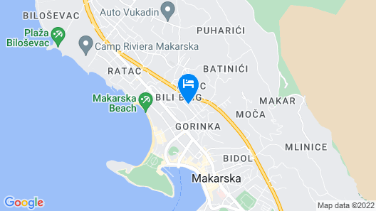 Makarska Apartman David Map