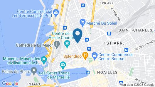 Aparthotel Adagio Marseille Vieux Port Map