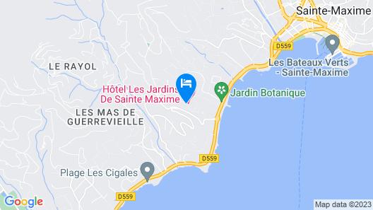 Hotel Les Jardins De Sainte Maxime Map