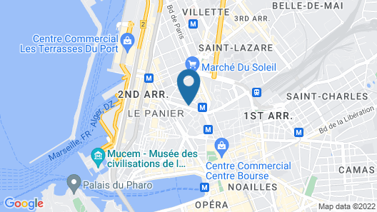 NH Collection Marseille Map