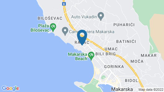 Dalmacija Sunny Hotel by Valamar Map