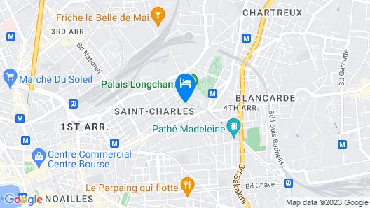 Gîte du Palais Longchamp Map