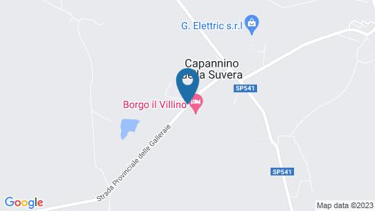 Villino Bazzani Map
