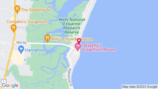 Atlantic Oceanfront Motel at Wells Beach, Maine Map