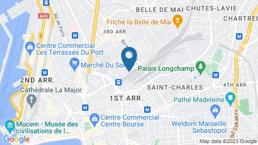 Aparthotel Adagio access Marseille Saint Charles Map