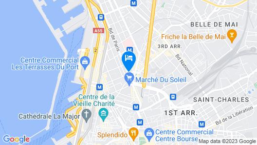 Le Palais Saint-Charles Map