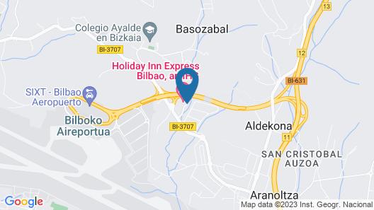 Hotel New Bilbao Airport Map