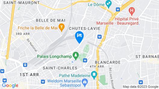 Charmant et cosy appartement Palais Longchamp Map