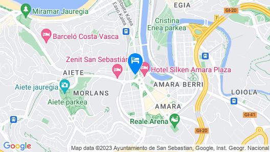 Casual de las Olas San Sebastian Map