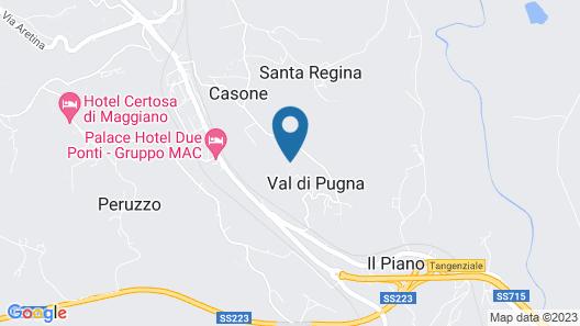 Castel di Pugna Map