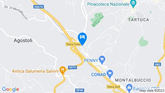 Villa Tuscany Siena Map