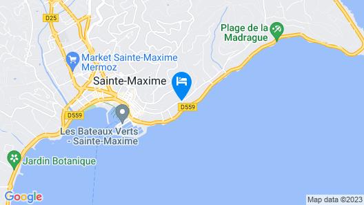 Best Western Plus Hotel Montfleuri Map
