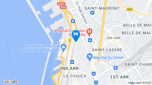 Ibis Marseille Centre Euromed Map