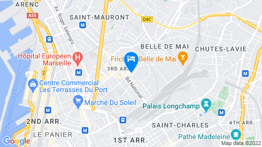 T3 Lumineux et Cosy Gare St charles Map