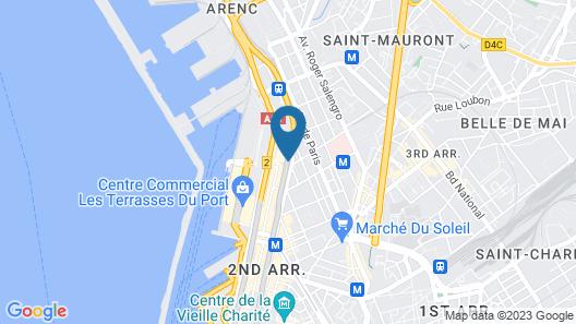 Golden Tulip Marseille Euromed Map