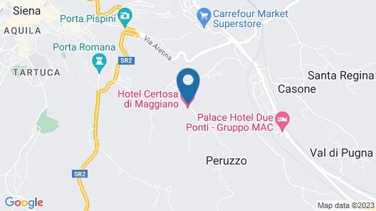 Hotel Certosa Di Maggiano Map
