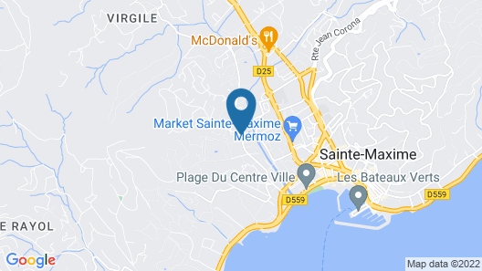 Hotel Club Le Capet Map