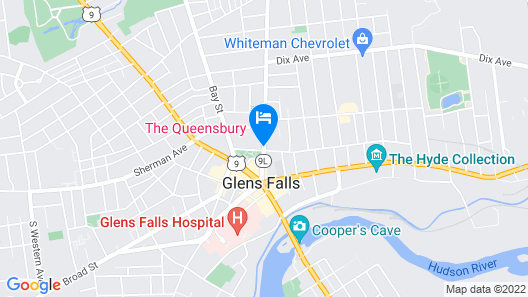 The Queensbury Hotel Map