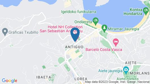 NH Collection San Sebastián Aránzazu Map
