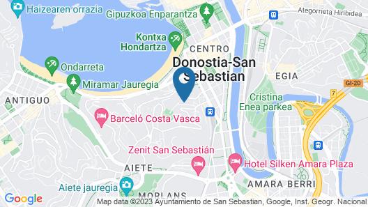 Axel Hotel San Sebastián - Adults Only Map