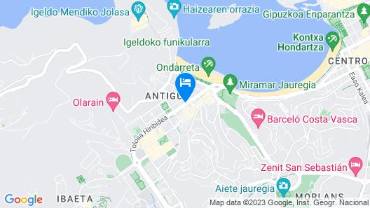 Hotel ILUNION San Sebastian Map