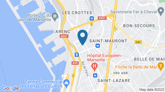 Appart'City Marseille Euromed Map